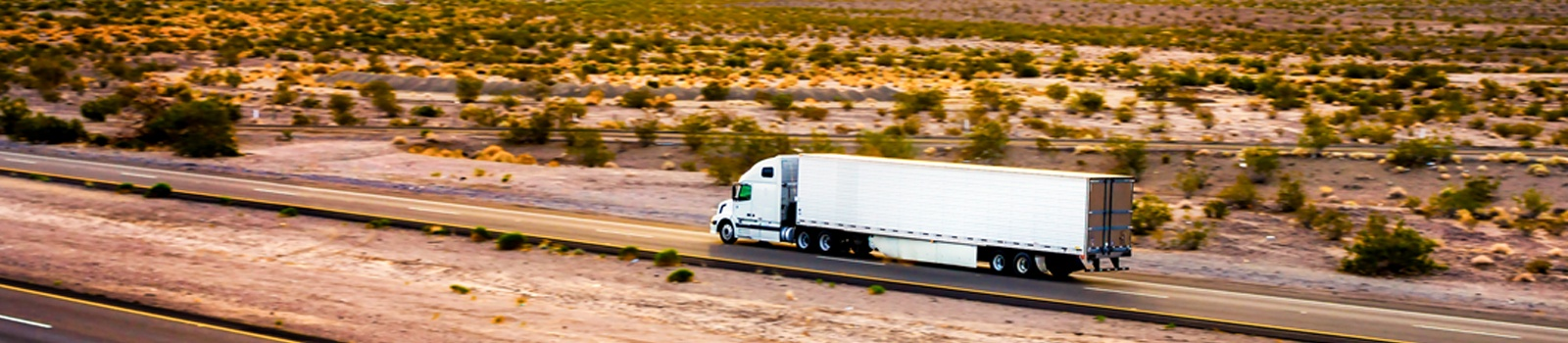 Transportation White Semi Truck Highway