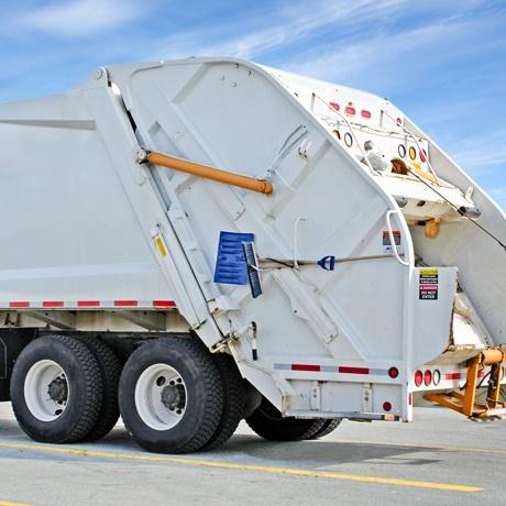 Waste Garbage Truck Parked