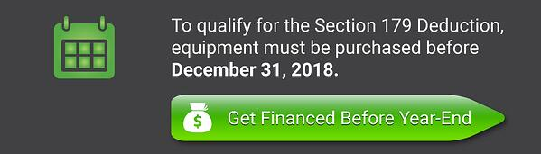Get financed to take advantage of Section 179