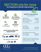 Section 179 2019 Tax Deduction & Bonus Depreciation