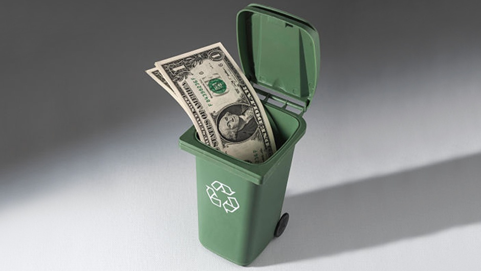 waste-cart-with-money